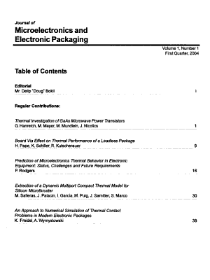 Journal of Microelectronics and Electronic Packaging PDF