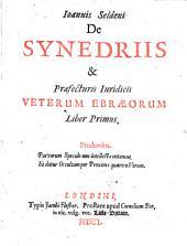 De Synedriis & Praefecturis Iuridicis Veterum Ebraeorum: Volume 1