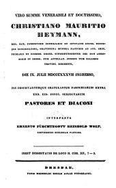 Dissertatio de loco II. Cor. XII, 7-9