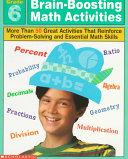Brain boosting math activities   grade 6 PDF