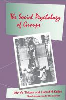 The Social Psychology of Groups PDF