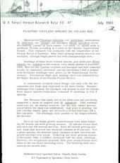 U.S. Forest Service research note SE.