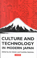 Culture and Technology in Modern Japan PDF
