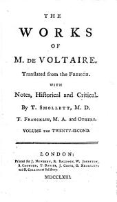 The Works of M. de Voltaire: Additions to the essay on general history. v. 32-33. Miscellaneous poems