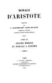 Morale d'Aristote: Volume3