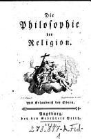 Die    Philosophie der Religion PDF
