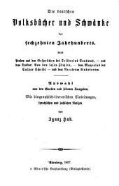 Die komische und humoristische literatur der deutschen prosaisten des sechzehnten jahrhunderts: Auswahl aus den quellen und seltenen ausgaben