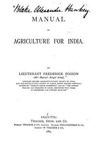 Manual of Agriculture for India PDF
