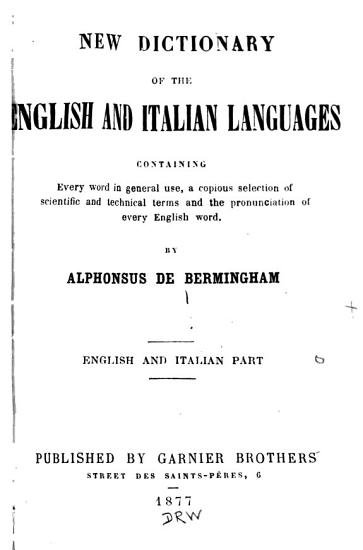 New Dictionary of the English and Italian Languages PDF