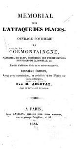 Mémorial pour l'attaque des places: ouvrage posthume de Cormontaingne ...