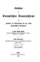 Geschichte des europ  ischen Staatensystems vom Zeitalter der Reformation bis zur ersten franz  sischen Revolution PDF