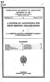 A System of Accounting for Fruit Shipping Organizations