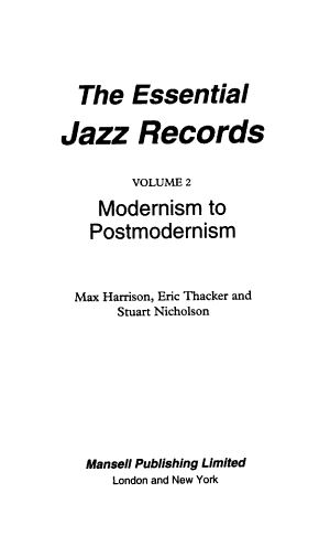 The Essential Jazz Records