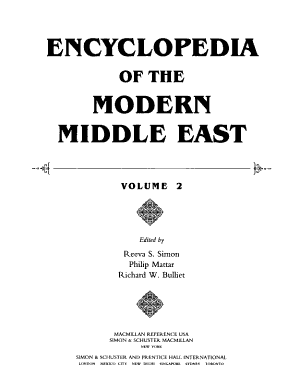 Encyclopedia of the Modern Middle East: D-K