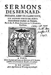 Sermons ... nouvellement traduits en Francois, par Antoine de S. Gabriel