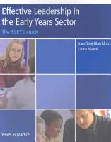Effective Leadership in the Early Years Sector PDF