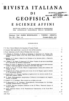 Rivista italiana di geofisica e scienze affini PDF
