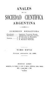 Anales de la Sociedad Científica Argentina: Volumen 27