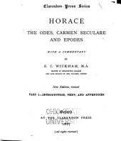 Horace: The Odes, Carmen Seculare, and Epodes
