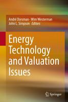 Energy Technology and Valuation Issues PDF