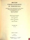British Union catalogue of Periodicals PDF