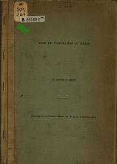 Heat of Evaporation of Water: Issues 1-3