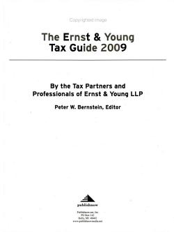 The Ernst   Young Tax Guide 2009 PDF