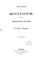 Juicio analítico del Quijote: escrito en Argamasilla de Alba