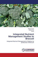 Integrated Nutrient Management Studies In Broccoli