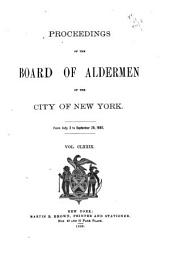 Proceedings of the Board of Aldermen: Volume 179