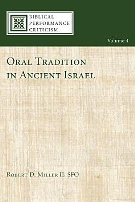 Oral Tradition in Ancient Israel PDF