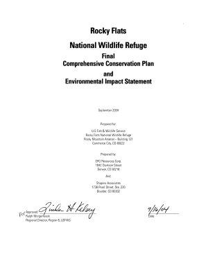 Rocky Flats National Wildlife Refuge  N W R    Comprehensive Conservation Plan PDF