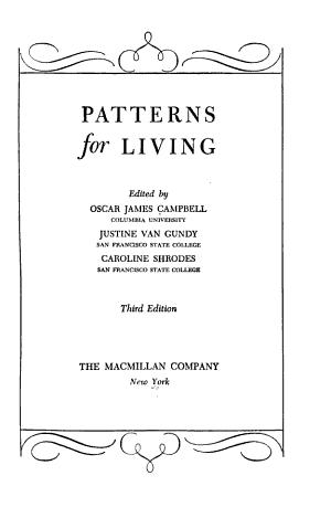 Patterns for Living PDF