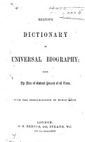Beeton s Dictionary of Universal Biography  Being the Lives of Eminent Persons of All Times  Etc PDF