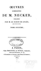 Œuvres complètes de M. Necker: Volume11