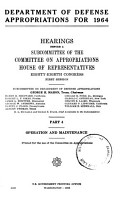 Department of Defense Appropriations for 1964 PDF