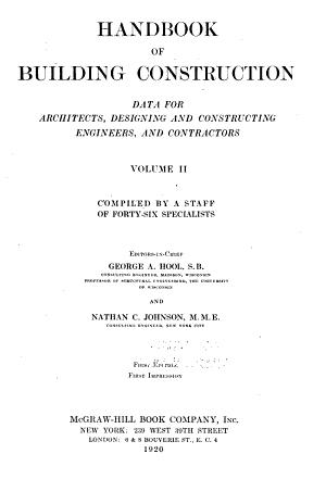 Handbook of Building Construction PDF