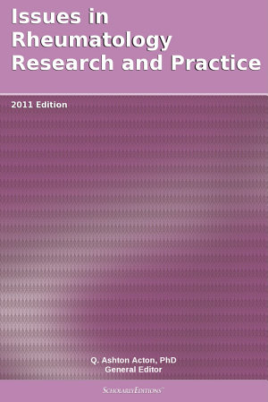 Issues in Rheumatology Research and Practice  2011 Edition PDF