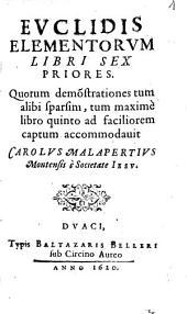 Euclidis Elementorum libri sex priores