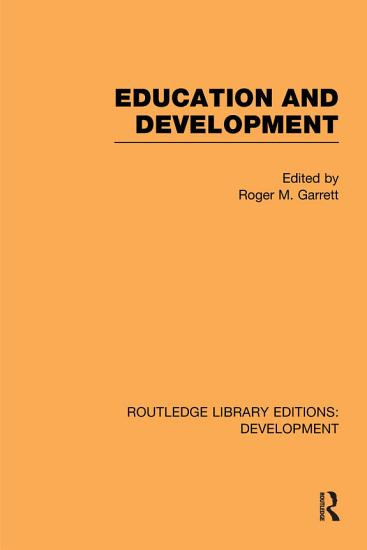 Education and Development PDF