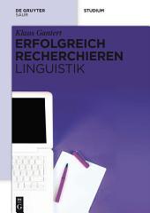 Erfolgreich recherchieren – Linguistik