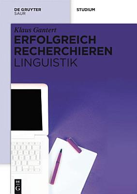 Erfolgreich recherchieren     Linguistik PDF
