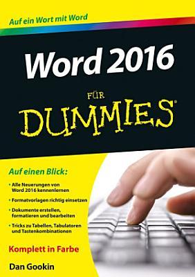 Word 2016 f  r Dummies PDF