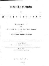 Deutsche Gedichte des Mittelalters: 1, Band 1