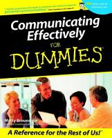 Communicating Effectively For Dummies PDF