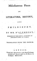 Miscellaneous Pieces in Literature  History  and Philosophy     Translated from the French PDF