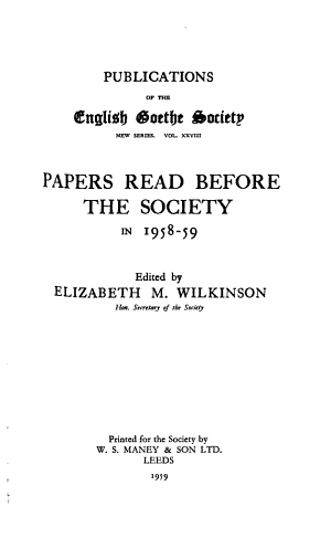 Papers Read Before the Society