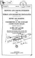 Brewing and Liquor Interests and German and Bolshevik Propaganda PDF