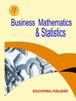 Business Mathematics   Statistics PDF