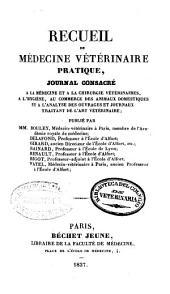 Recueil de médecine vétérinaire: Volume14